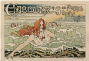 French poster - Cabourg, 5 hours from Paris (1896)